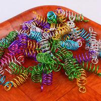 Lot Adjustable Mixed Spiral Cuff Dreadlock Beads Braiding Hair Clips Accessories