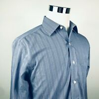 Brooks Brothers Mens 15 1/2 33 Regent Non Iron Shirt Blue White Plaid Cotton