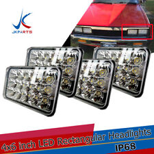 "4pcs 4x6"" 45W Led Headlights DRL for Kenworth H4651 H4652 H4656 H4666 Truck"