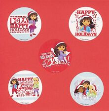 15 Dora and Friends Christmas Holiday - Large Stickers - Party Favors
