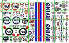 NH114 1/2 Set N SCALE GAS OIL SET FINA PURE IRVING SIGNAGE DAVE'S DECALS