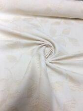 Tessuto cotone crema damascato 1 METRI