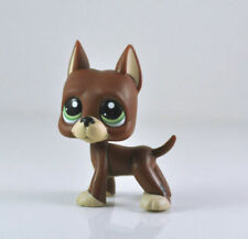 Littlest Pet Shop 1519 Great Dane Puppy Dog Chocolate Green Eyes Lose LPS frmUSA