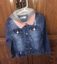 Epic Threads Girls Hooded Denim Jacket Long Sleeve Casual Wear Size 6