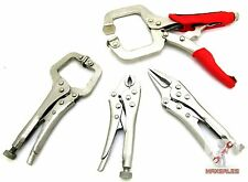 "4-PC Vice Grip Mini Locking Pliers Set HIGH CARBON STEEL 4"",4.5"",5"" & 6"" pliers"