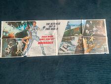 ORIGINAL VINTAGE MOVIE POSTER CINEMA RARE MOONRAKER JAMES BOND 007 ROGER MOORE