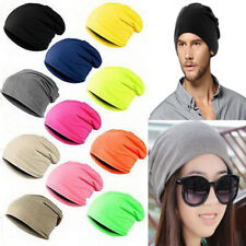 Men Red Knitted Cap Winter Warm Oversized Ski Slouch Women Hat Baggy Beanies