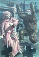 BERTHOMME SAINT ANDRE :  Le loup garou - Lot de 2 EAUX-FORTE, 1931