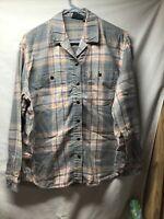 Lizwear - Blue/Pink Plaid Button Down Shirt - Long Sleeve - Ladies Size Medium