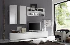Mobile parete moderno Primo F soggiorno salotto bianco o peltro laccato lucido