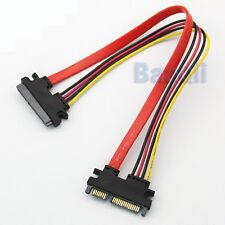 Male to Female 7+15 Pin Serial ATA SATA Data power combo extension Cable M/F  DE
