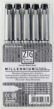 Zig Milenio Negro fina línea artistas Dibujo 5 Pen Set (0.05,0.1,0.3,0.5,0.8