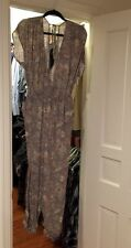 NWT Free People Beige & Yellow Paisley Print Jumpsuit M