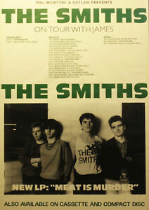 """Reproduction, The Smiths - """"On Tour"""" Poster, Morrissey, Manchester"""