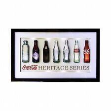 Coca-Cola Contour Bottle Evolution History 3D LED Lighted Wall Art