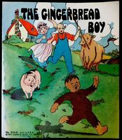 THE GINGERBREAD BOY ~ 1930's Children's Softcover Story Book Color Plates