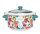 Breezy Blossom 6 Quart Portable Slow Cooker, 15.25 x 9.25 x 15.38 Inches