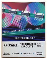 Sprague, Integrated Circuit, Supplement 1, Data Book 1985