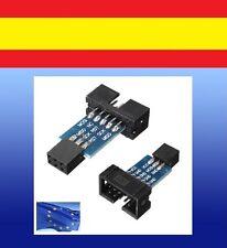 Adaptador standard 10pins a 6pins 10 6 pins ATMEL AVRISP USBASP STK500 conector