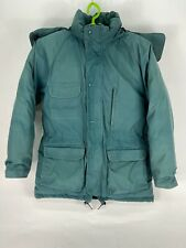 Vintage Eddie Bauer Goose Down Jacket/Parka Mens Medium Teal With Hood! Euc