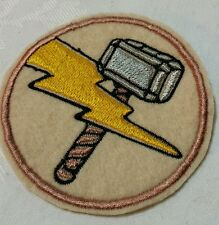 Thor Hammer Iron On Embroidered Patch 7.5cm
