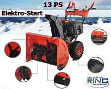 Benzin Schneefräse 13 PS Elektrostarter Kehrmaschine Schneeschieber Schnee Fräse