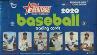 2020 Topps Heritage High Number MLB Baseball Hobby Box NEW Factory SEALED NIB