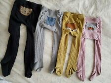 Lot of 4 Toddler Girl Cable Knit Tights Size 2