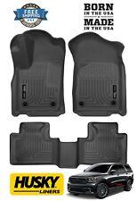 Husky Weatherbeater fits 16-18 Dodge Durango Floor Mats Liners 99151 Black