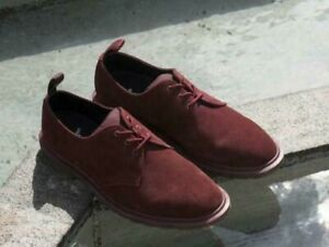 Dr Martens STEED X Norse Projects Red repello calf suede shoes UK 8 EU 42 MIE