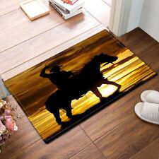 """15X23"""" Kitchen Bedroom Door Mats Cowboy Horse Floor Non-Slip Bath Room Mat Rug"""