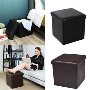 "15"" Storage Ottoman - Folding Toy Box Chest Seat Ottomans Bench Foot Rest Stool"