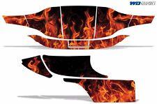 New EZGO Graphic Kit Golf Cart Decal Sticker Parts 2 Seat EZ-GO Wrap 96-10 FLAME