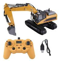 HUINA1580 RC Excavator 2.4G 1:14 3 in 1 Electric Engineering Truck Toy Xmas Gift