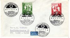 1952 Germany Scott B325-B326 on cover with special Red Cross Expo cancels-fresh