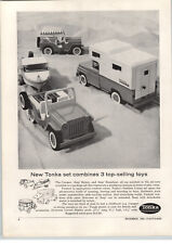 1963 PAPER AD New Design Tonka Toy Trucks Camper Jeep Surrey Runabout Boat