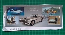 2020 James Bond Q Branch Miniature Sheet USED on paper