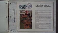 Document Philatélique - 30ème anniversaire du Débarquement en Normandie - 8/6/74