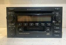 Toyota 6 Cd Disk Changer w. Cassette Deck Oem Radio Stereo Head Unit 98-2003