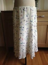 Laura Ashley Butterfly Print Skater Skirt Size-14 New With Tags (H1)