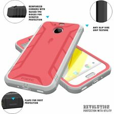 POETIC Revolution Shockproof Case w/ Built-In Screen for HTC Bolt Pink (2016)