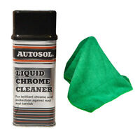 AUTOSOL SOLVOL LIQUID CHROME METAL CLEANER POLISH 250ml + MICROFIBRE CLOTH SET
