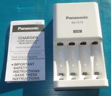 100-240V Panasonic Eneloop Quick-3hr Ni-MH Battery Charger BQ-CC75 Charging USB