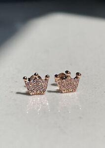 💫Pandora Enchanted Rose Crown Stud Earrings ALE 925s 💫