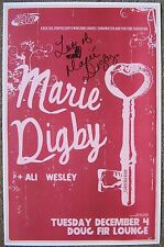 Signed MARIE DIGBY Gig POSTER In-Person w/proof Autograph Concert