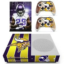 Xbox one S Slim Skin Minnesota Vikings NFL Vinyl Skin Sticker Decals for Console