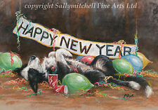 Border Collie, working Collie, Christmas cards pack of 10 by Paul Doyle. C458x