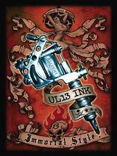 Tattoo UL13 Tinte, Metall Gewehr, Immortal Stil, Neuheit Kühlschrank-Magnet