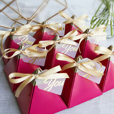 Triangular Pyramid Sweet Candy Box Wedding Favors Paper Gift Chocolate Pack-