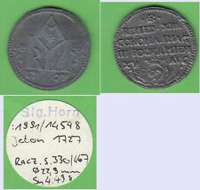 Jeton 1727 Polen aus Slg. Horn (Zinnabguß?) (cc5) stampsdealer